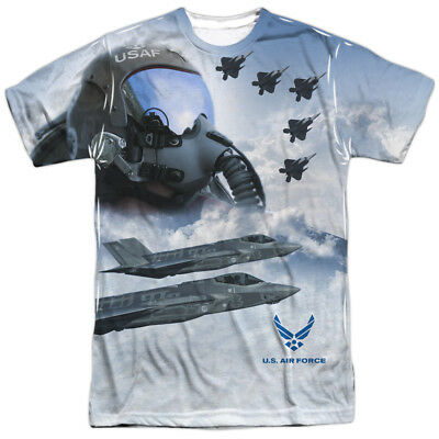 US Armed Forces Air Force USAF Pilots Strike Mode Adult 2-Sided Print T-Shirt