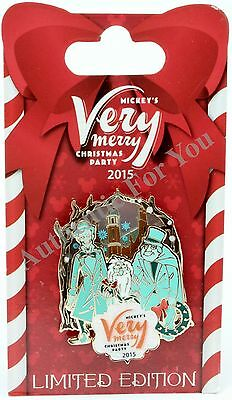 2015 Disney MVMCP Mickey's Very Merry Christmas Party Pin LE Hitchhiking Ghosts