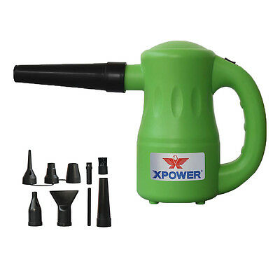 XPOWER Airrow Pro Multi Use Pet Hair Dryer Blower Duster Air Pump B-53- Green