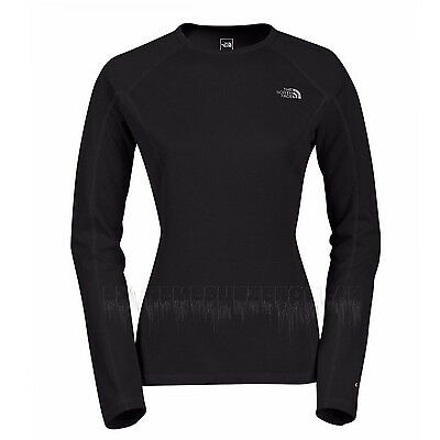 THE NORTH FACE Womens 2016 TNF Black WARM L/S CREW NECK Base Layer SHIRT