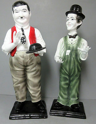 New Laurel & and Hardy w/ Hat & Holding Tie in Hand Figurine Statue Figure Set