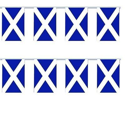 Scotland Saltire St Andrews Cross Navy Blue Flag Bunting 20 Feet