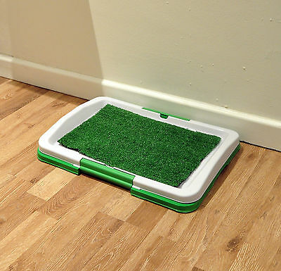 Puppy Dog  Pet Litter Toilet Training Tray Artificial Grass Odourless Potty