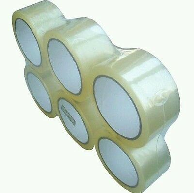 """12 Rolls 2"""" Clear Tape 110 yard 330 ft  Clear Packing Tape Carton Sealing Box"""