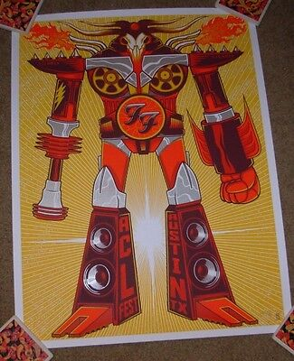 FOO FIGHTERS concert gig poster print AUSTIN 10-9-15 2015 jim mazza