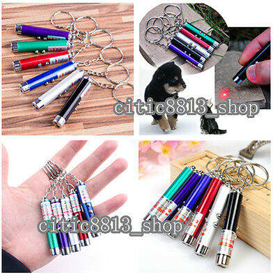 2In1 Red Laser Pointer Pen With White LED Light Kids Cat's Toy Multicolor 1PC CI