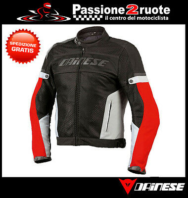 Giacca Dainese Air-Frame Tex Nero High-Rise Rosso Moto Jacket