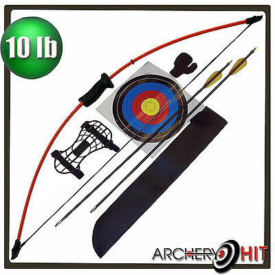 "Kids 36"" Junior Long Bow and Arrow Recurve Archery Set Basic Pack"