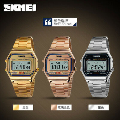 Skmei Mens Sport Luxury LED Digital Watches Casual Gold Military Wristwatch Gift