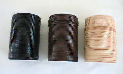 5metres of ROUND LEATHER CORD 2mm