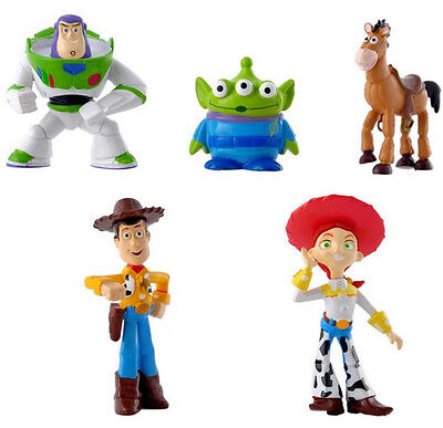 5Pcs Toy Story Figure Buzz Lightyear Woody Figures Doll Set Kid PVC Toy Gift New