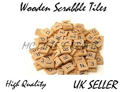 Wooden Scrabble Letters Game Individual Tiles Numbers Crafts Alphabet Wood
