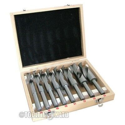 8PC BLACKSMITH REDUCED SHANK HSS HIGH SPEED STEEL TWIST DRILL BIT SET 14-25m