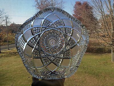 Great Heavy Antique ABP Brilliant Period Cut Glass Bowl