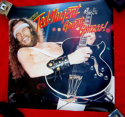 Ted Nugent 1981 poster Great Gonzos MINT