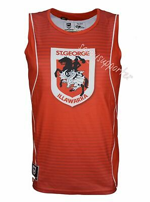St George Dragons NRL Classic Sublimated Training Singlet Size' S-5XL BNWT6