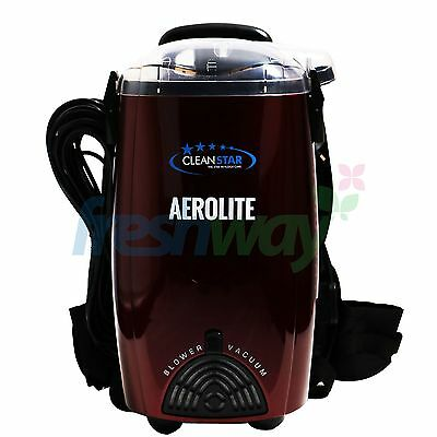 Aerolite Lightweight Backpack Colour Vacuum Cleaner VBP1400 #Silver, Burgundy