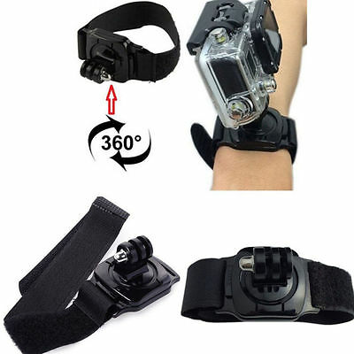 360-Degree Adjustable Wrist Arm Leg Strap Mount for GoPro Session Hero 1/2/3/4!