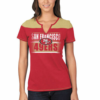 San Francisco 49ers Majestic Women s Football Miracle T-Shirt - Scarlet Gold 360160bf1