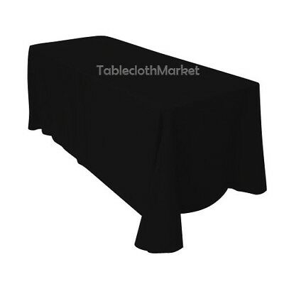"90""×156"" Tablecloths 100% Polyester 25 COLORS Wholesale Wedding Linen Catering"