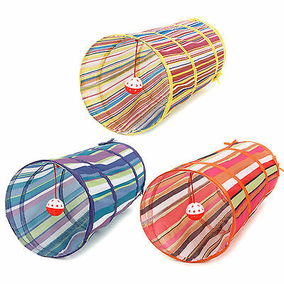 Cat Tunnel Toys Folding Pet Fun Tunnel Kitten Rabbit Play With Ball In AU