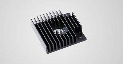 Black Anodized Aluminium Heatsink For 3D Printer Extruder Cold End 4 x 4 x 1.1cm