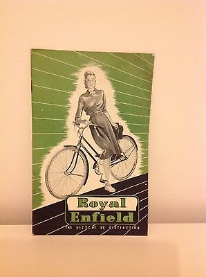 Royal Enfield Bike Vintage Brochure 1949 inc Pics and Specs