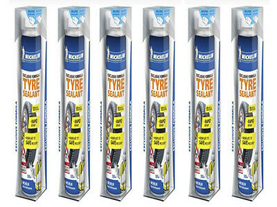Michelin 12190 Exclusive Formula Tyre Sealant Repair 6 Cans 500ml