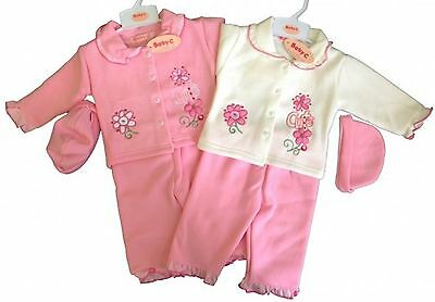 Girls Kids 3 Piece Baby Wear Suit Tracksuit Outfit Clothing Girl Suits 0-9 Month