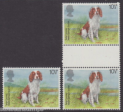 "GREAT BRITAIN - 1979 10½p. Dogs - ""Gutter Pair""- Shifts Variety - UM / MNH"