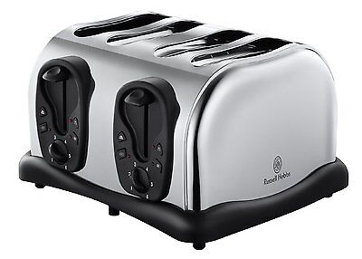 Russell Hobbs 4 Slice Compact Toaster Polished Stainless Steel 18140