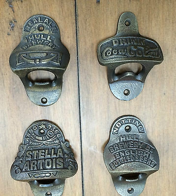 Cast iron Vintage Collectable Wall mounted  handheld Bottle Openers 10 styles