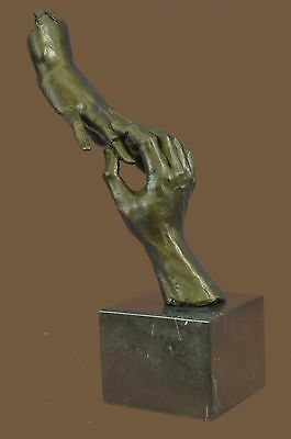 Surreal Hand Holding Lovers Abstract Romantic Art Dali Bronze Sculpture Statue