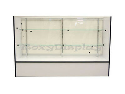 """White Full Vision 60"""" Showcase Display Case Store Fixture KNOCKED DOWN #SC-SC5WH"""