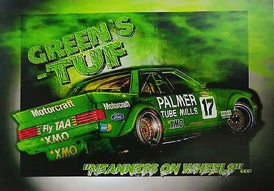 1984 Dick Johnson Ford XE Bathurst Green's Tuff A3 Poster Print Picture Image