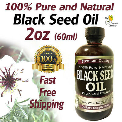 2oz 100% Pure & Natural Black Seed Oil Cold Pressed Cumin Nigella Sativa Non-GMO