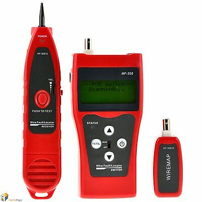 RJ11 RJ45 Phone Network LAN TV Cable Electric Wire Finder Tracker Tester NF-308
