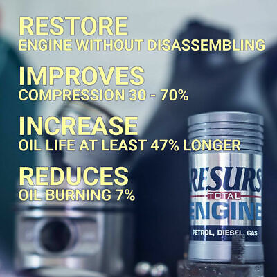 RESURS Total Nano Oil Additive Engine Restorer For all Engines 50g Fast Shipping