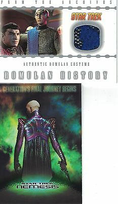 Star Trek TNG Nemesis Case Topper RC1 + MP1  582/999 costume Incentive card