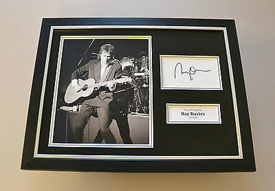Ray Davies Signed Framed 16x12 Photo Autograph The Kinks Memorabilia Display COA