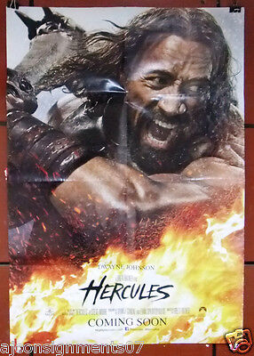 "HERCULES {DWAYNE JOHNSON} 40x27"" Double Sided Original Movie Poster 2000s"