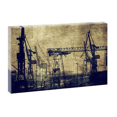 vintage industrie bilder auf leinwand keilrahmen poster xxl 100 cm 65 cm 527 eur 29 90. Black Bedroom Furniture Sets. Home Design Ideas