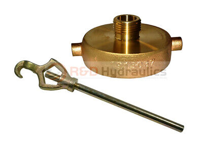 """FIRE HYDRANT ADAPTER COMBO 2-1/2"""" NST(F) x 3/4"""" GHT (M) w/Hydrant Wrench"""