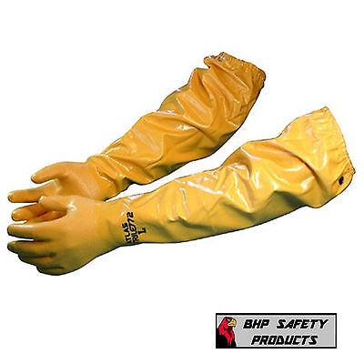 "Showa Atlas 772 Chemical Resistant Gloves Best Glove Mfg 26"" (Sizes M, Lg, Xl)"