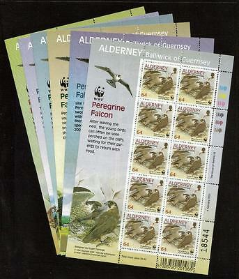 Alderney Mnh 2000 Peregrine Falcon Set Of 6 Sheets