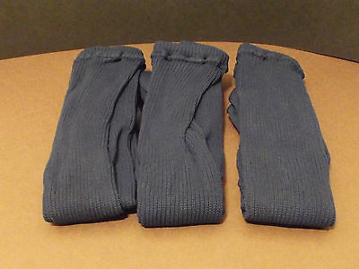 Girls Navy thick nylon ribbed winter tights, 1-2 Years 3 Pack (W-29)