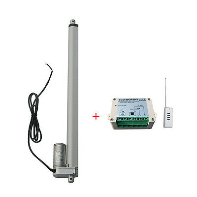 "18"" 330lb Linear Actuator 12V DC Electric Motor + Remote Controller Window Door"