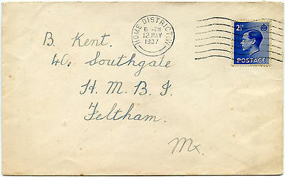 Gb Ke8 1937 Home District W Machine Cancel