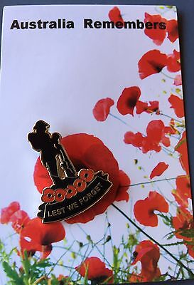 Lest We Forget Soldier On Poppies Remembrance Day Lapel Pin Badge *ANZAC DAY