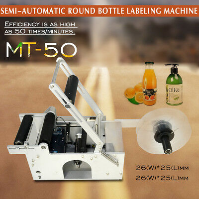 In DE DURABLE LABELING MACHINE MT-50 SEMI-AUTOMATIC ROUND BOTTLE LABELER WITH CE